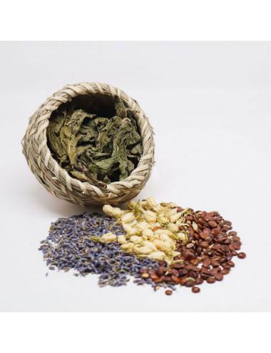 酸枣仁 Spina Date Seed 薰衣草 Lavender 茉莉花 Jasmine 薄荷叶 Peppermint